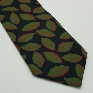 Rubinacci 100% Silk Tie Made in Italy Leaf Print